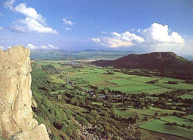 Birds-eye view over porthmadog and tremadog